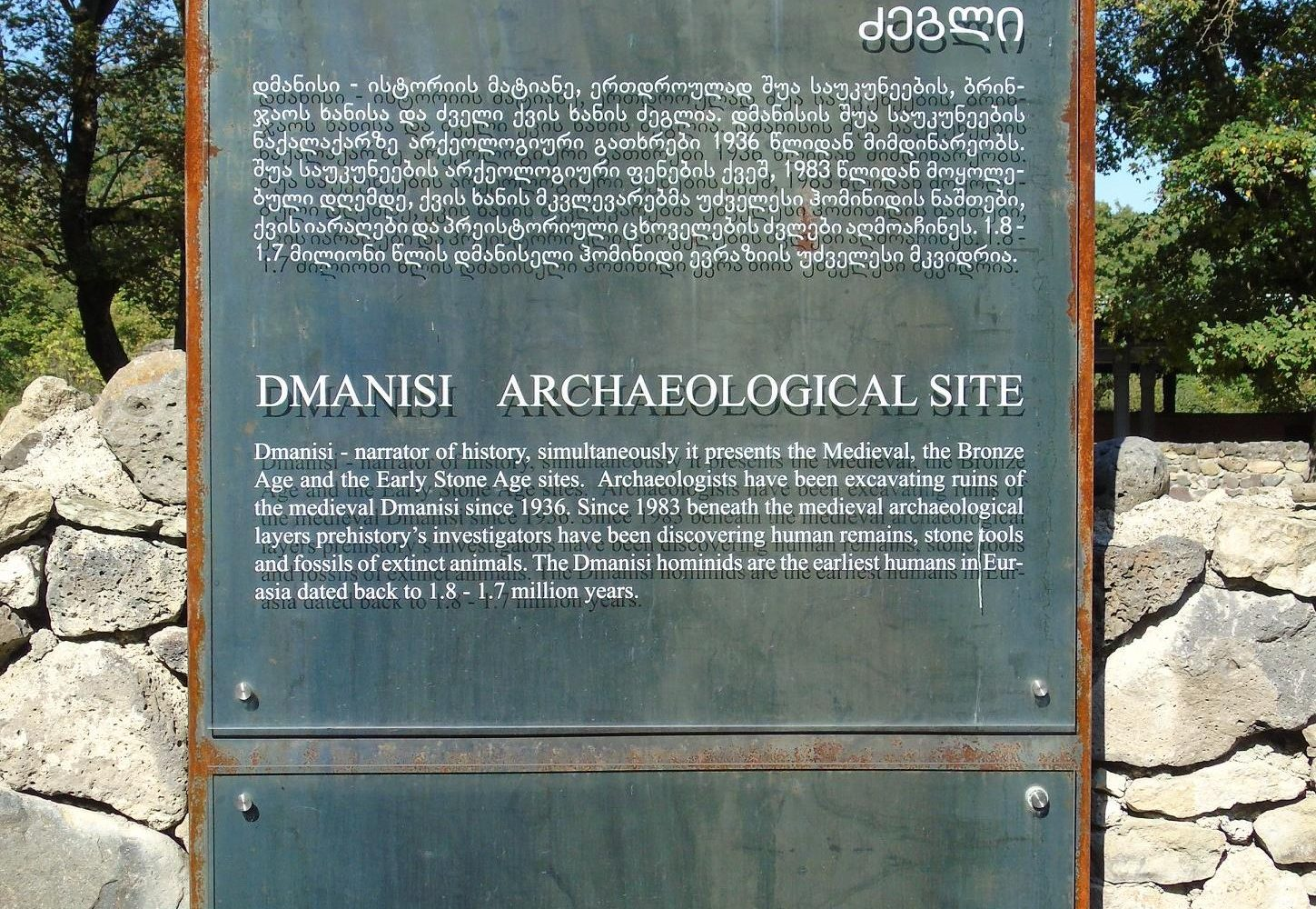 Dmanisiarchaeological expedition